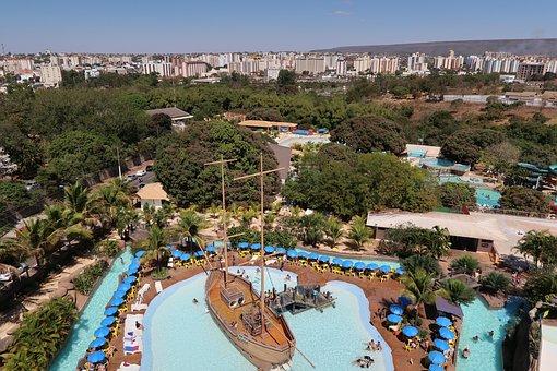 Pool, Boat, Ship, Childish, Caldas Novas, Goiás, Club