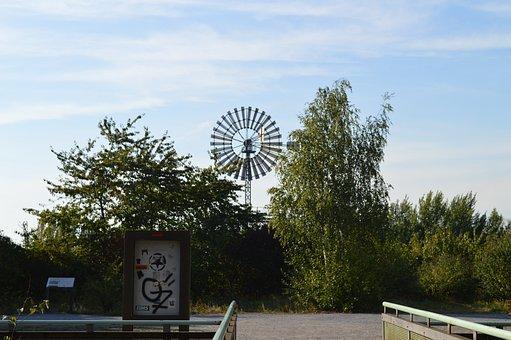 Pinwheel, Sky, Wind Power, Clouds, Environment