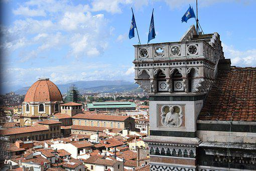 Tower, Church, City, Architecture, Cathedral, Florence