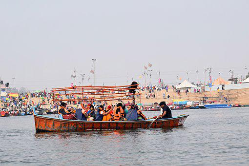 Boat, River, Ganges, Water, India, Hinduism, Travel