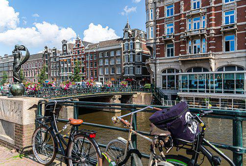 Amsterdam, Canals, Statue, Netherlands, Holland, City