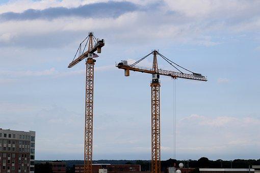 Crane, Building, Construction, Housebuilding, Project