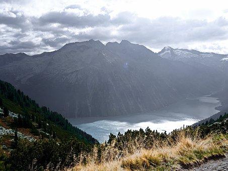 Schlegeis, Reservoir, Zillertal, Austria, Tyrol