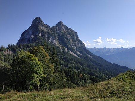 Small Myths, Schwyz, Mountains, Switzerland, Myths, Sky