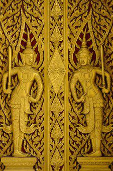 Thailand, Bas Relief, Buddha, Statue, Sculpture, Asia