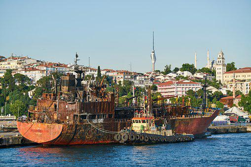 Ship, Port, Shipyard, Repair, Rust, Old, Accident