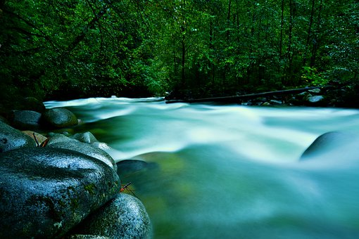 River, Silky Water, Cascading Water, Natural Wonder