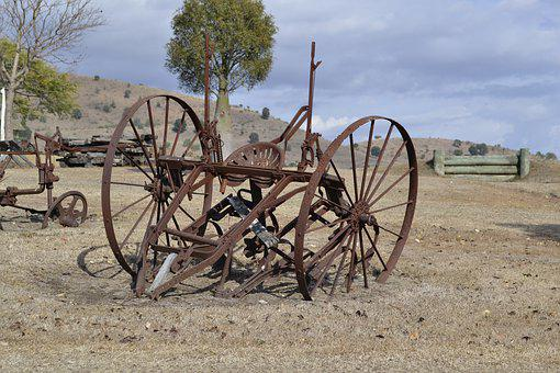 Rust, Wagon, Old, Antique, Vintage, Wheel, Metal