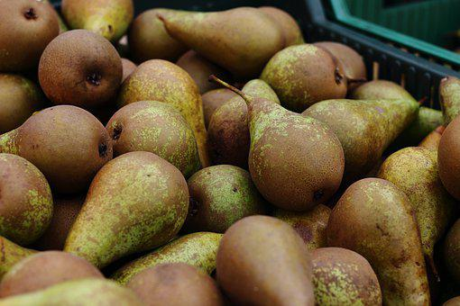 Fruit, Pear, Pears, Box, Market, Basket Pear, Bio