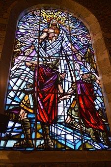 Stained Glass, Window, Church, Faith, Color, Christian