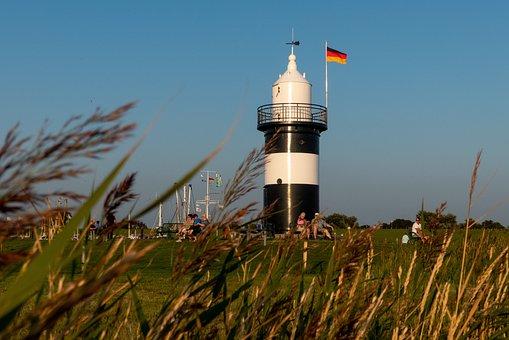 Lighthouse, Daymark, Beacon, North Sea, Coast, Sea