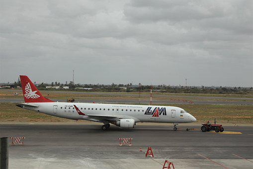 Lam, Mozambique, Airlines, Embraer, Boeing, 737, White