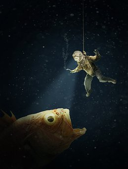 Deep Sea, Divers, Underwater, Sea, Water, Ocean, Fish