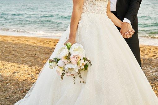 Bridal, Son In Law, Flower, Beach, Romantic, Married