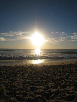 Sunset, Beach, Twilight, Landscape, Horizon, Sand