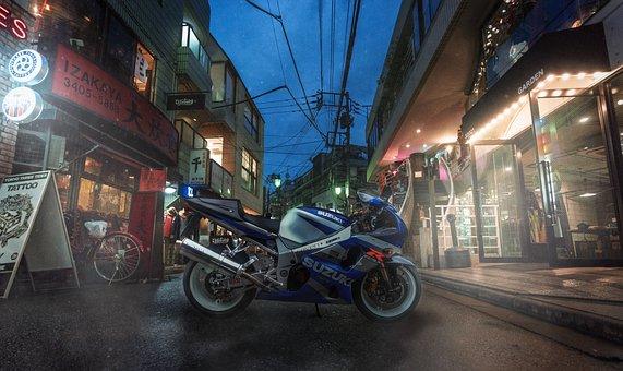Japan, Gsxr, Suzuki, Motorcycle, 1000r, Road, Vehicle