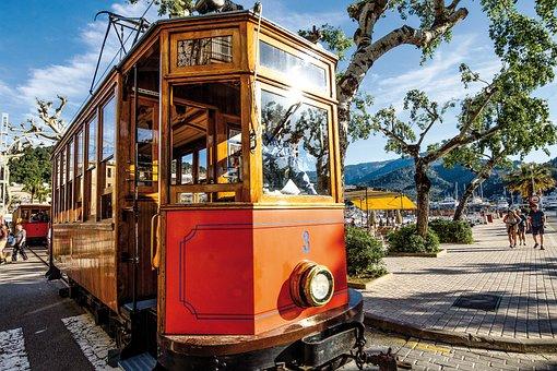 Spain, Mallorca, Sóller, Tram, Train, Balearic Islands