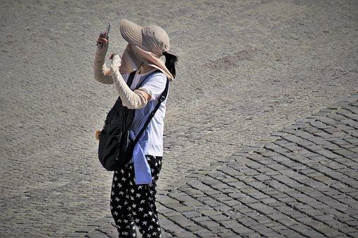 Selfie, Asia, Smartphone, Gesture, Tourism, Masks