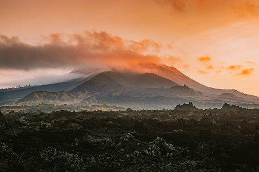 Kintamani, Mount, Early, Morning, Fog, Nature, Outdoor