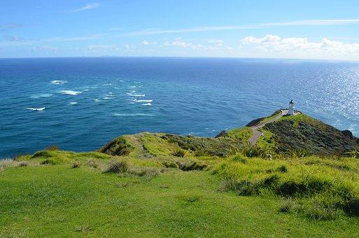 Cape Reinga, New Zealand, North Island, Lighthouse