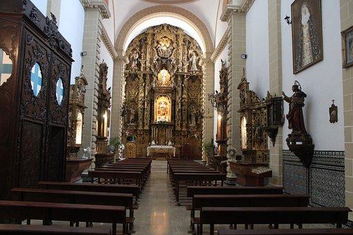 Altar, Church, Temple, The Port Of Santa Maria, Nuns