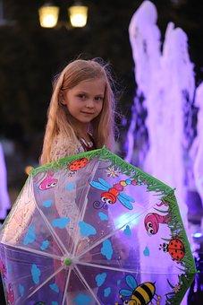 Girl, Baby, Portrait, City, The Urban Landscape, Water