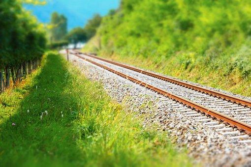 Railway Rails, Track, Rail Traffic, Route