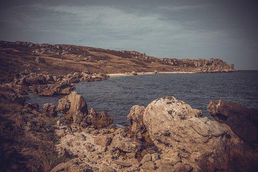 Crimea, Sea, Summer, Water, Sky, Vacation, Tourism