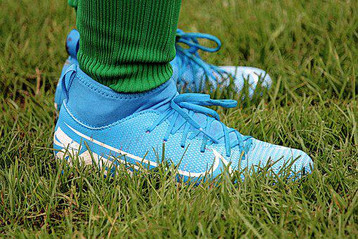Soccer Shoes, Football, Grass, Nike, Laces, Sports