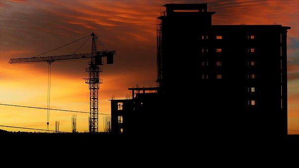 Sunset, Factory, Electric, Sun, Sky, Summer, Light