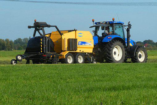Model, Tractor, Agricultural Machinery, Hay Balers