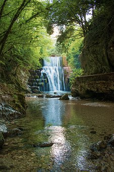 Waterfall, Creek, Nature, Water, Landscape, Outdoors