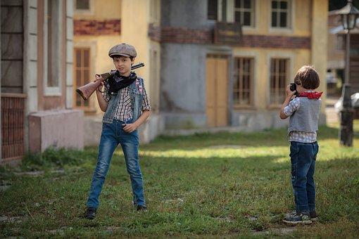 Gun, Weapons, Western, Boy, Bully, Cowboy, Texas