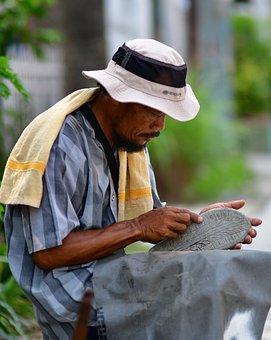 Cobbler, Shoemaker, Portrait, Man, Adult, Worker, Hat