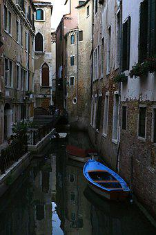Channel, Atmosphere, Boats, Venice