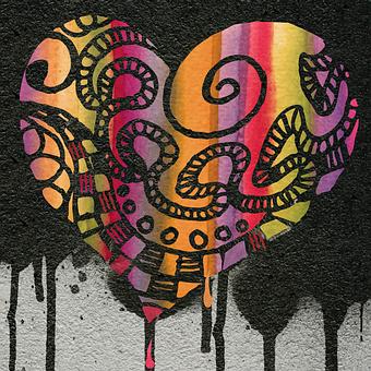 Heart, Bleeding, Color, Painting, Symbolic, Broken