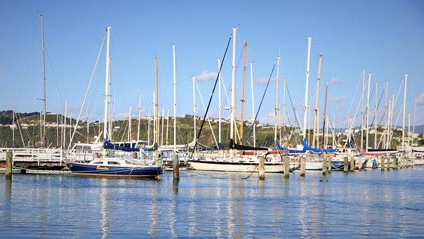 Boat, Reflection, New, Zealand, Petone, Lower, Hutt
