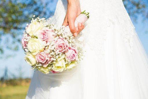 Wedding, Bride, Bouquet, Marriage, Pair, Love, Before