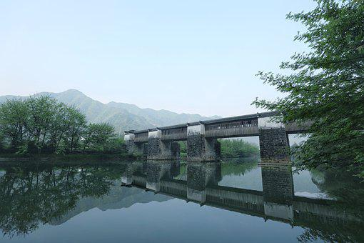 Bridge, River, History, Landscape, Travel, Build