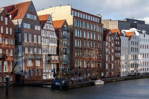 Hamburg, Nikolai Fleet, Port Motifs, Architecture, City