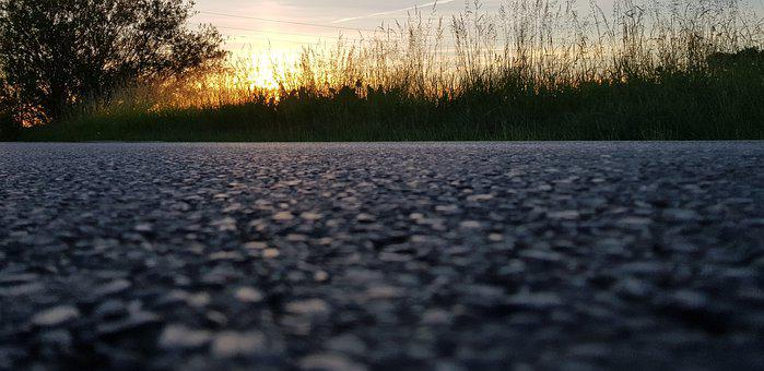 Road, Street, Zoom, Focus, Background, Close Up, Sunset