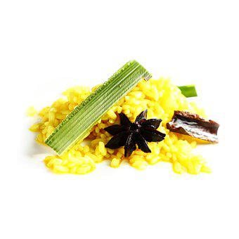 Ginger Yellow Rice, Star Anise, Culinary Herbs