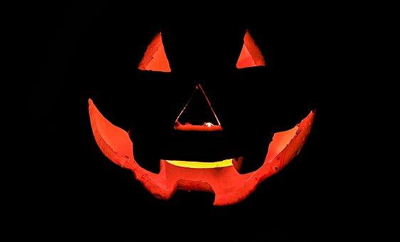Pumpkin, Halloween, Dark, Scary, Face, The Background