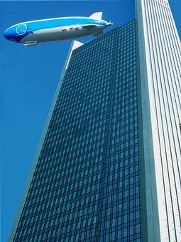 Architecture, Frankfurt, Ffm, Airship, Zeppelin