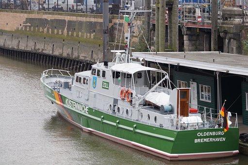 Coast Guard Boat Hamburg, German Coast Guard