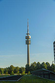Germany, Munich, Olympic Tower, Olympic Village