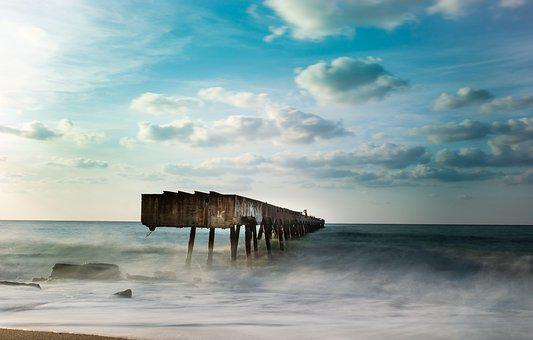 Marine, Long Exposure, Beautiful, Cloud, Iskele, Blue