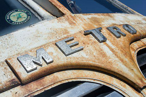 Old-timer, Old Van, Metro, Classic, Weathered, Car Show