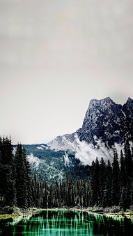 The Scenery, Ps, Water, Mountain, Canada, National Park