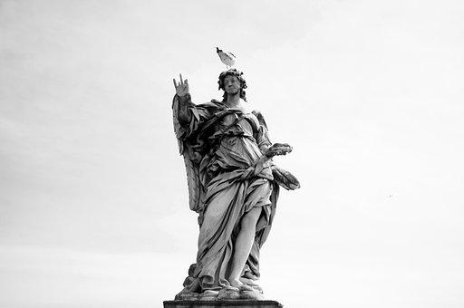 Statue, Angel, Sculpture, Religion, Stone, Ornament